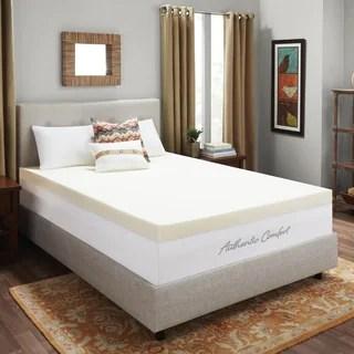 Authentic Comfort 4 Inch Memory Foam Mattress Topper