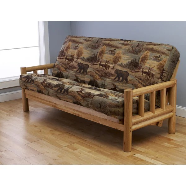 Somette Aspen Lodge Natural Full Size Futon Frame And Mattress Set