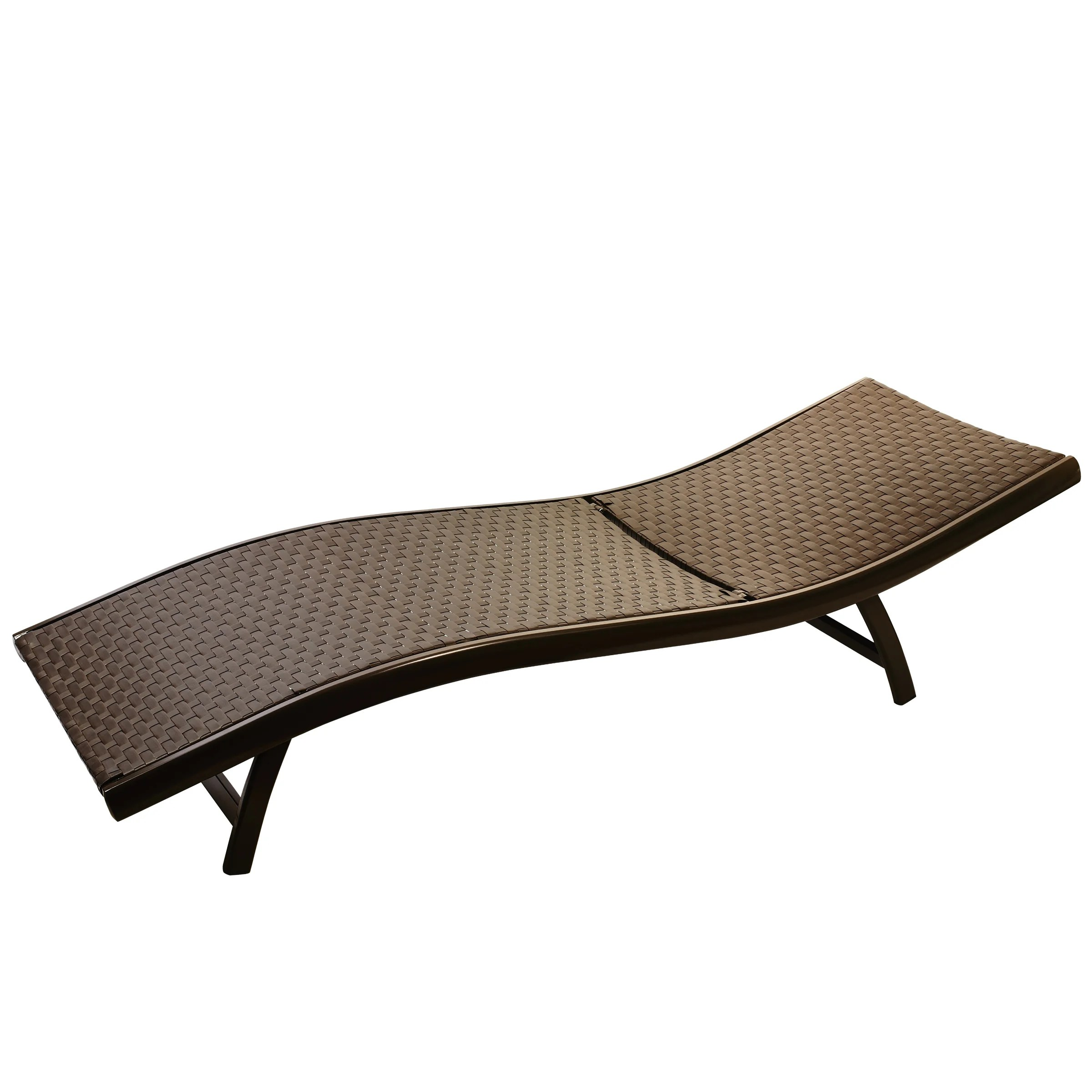 infinita all weather wide weave wicker sun chaise lounger set of 2