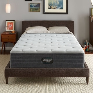 Wishlist Gray Heart Beautyrest Silver Maddyn Plush 12 Inch Twin Size Mattress