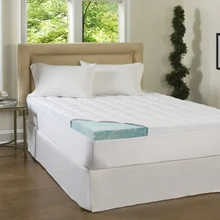 Comforpedic Loft From Beautyrest 4 Inch Supreme Gel Memory Foam And 1 5 Fiber