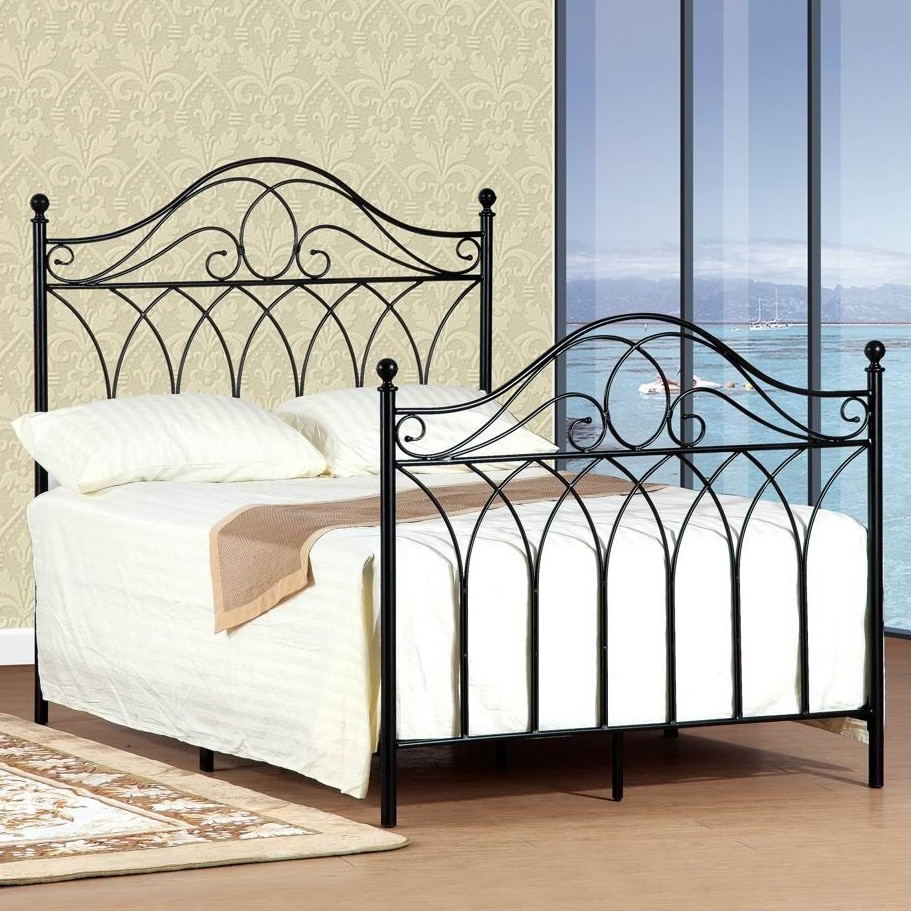 queen size black headboard and footboard set