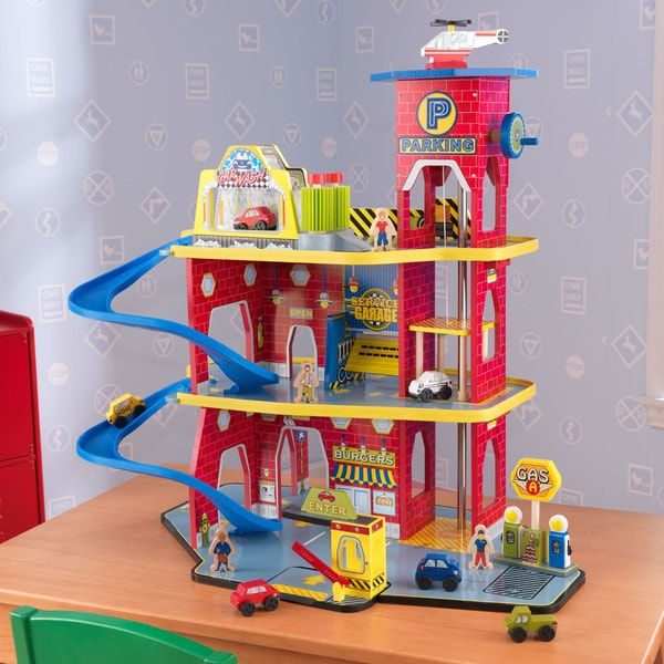 Shop KidKraft Toy Garage Playset Free Shipping Today