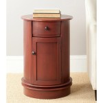 Shop Black Friday Deals On Safavieh Tabitha Red Storage Oval Cabinet 17 7 X 17 7 X 26 Overstock 8267742