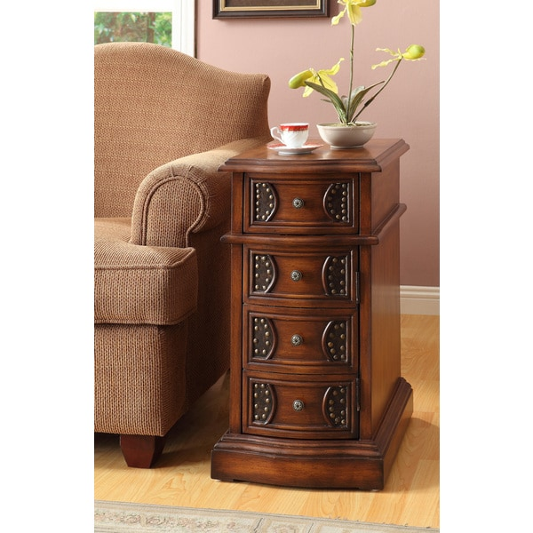 Shop Oak Finish Side Table Free Shipping Today