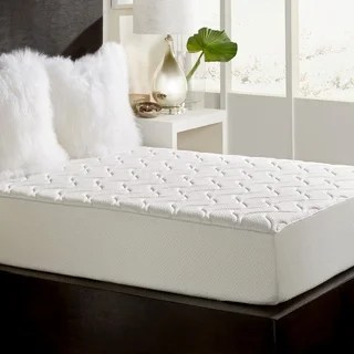 Quilted Top 10 Inch Queen Size Memory Foam Mattress With Removable Cover