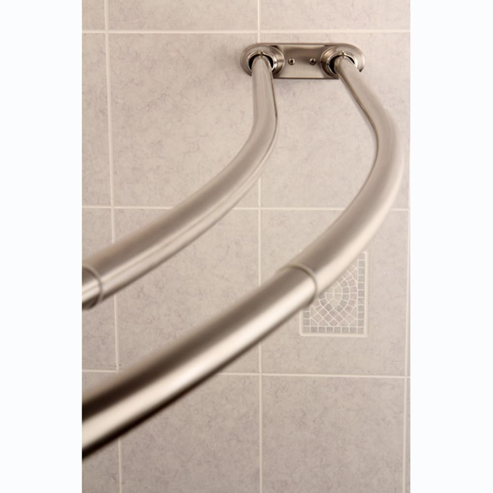 curved adjustable double shower brushed nickel curtain rod n a