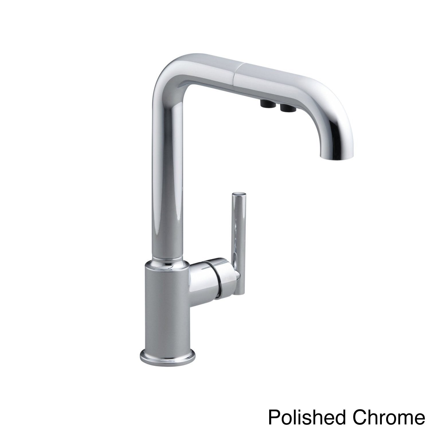 kohler purist single hole kitchen sink faucet with 8 pull out spout