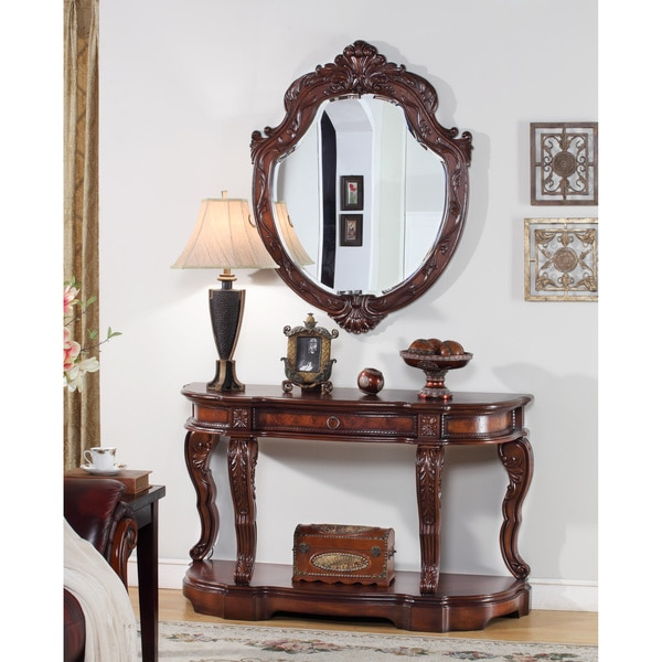 title | Foyer Table And Mirror Set