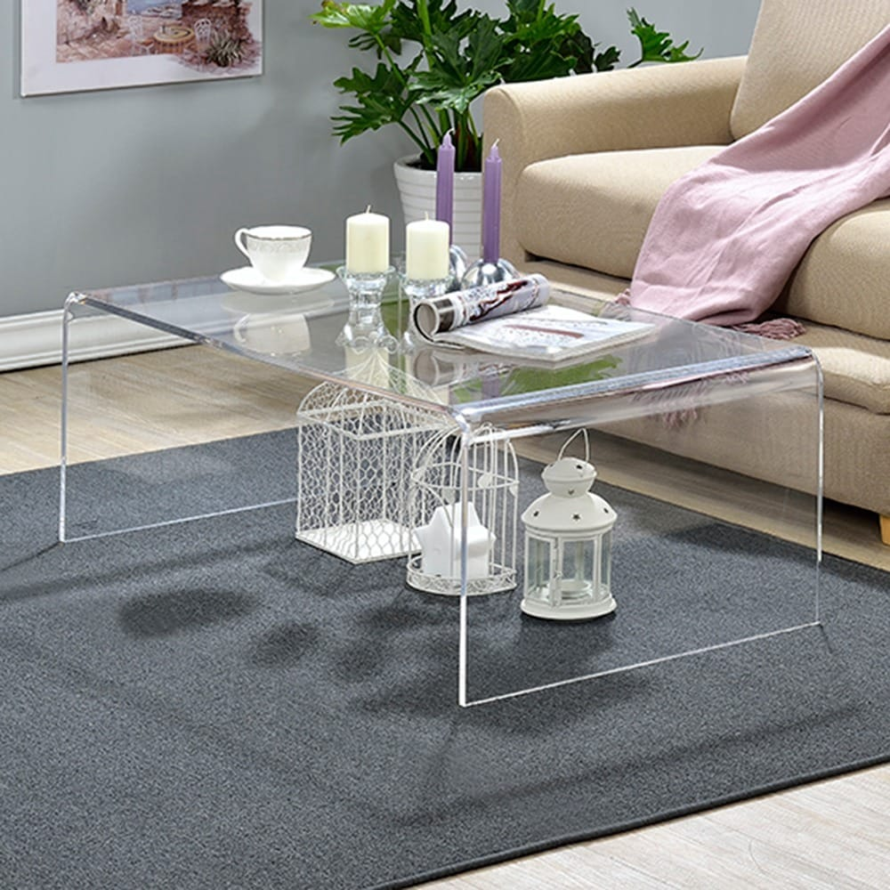 Shop Clear Acrylic Coffee Table On Sale Free Shipping Today Overstock 8407290