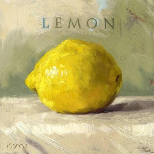 'Amberton Publishing Lemon' Canvas Art