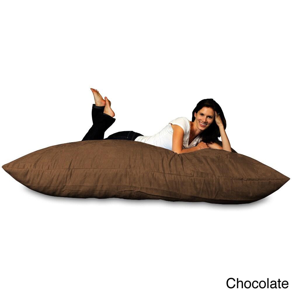 huge memory foam micro suede beanbag pillow