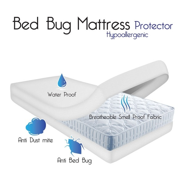 Windsor Home Waterproof Bed Bug Dust Mite Cotton Mattress Protector Free Shipping Today 15785162