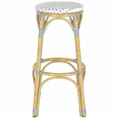 "Safavieh Kipnuk Grey/ White Indoor Outdoor Stool - 20.5"" x 20.5"" x 30"""