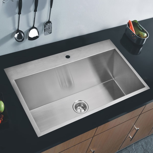 Water Creation SSS TS 3322A 33x22 Inch Stainless Steel
