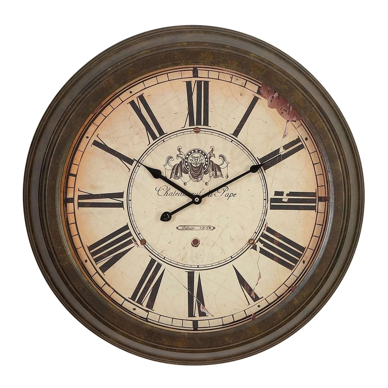 Shop Roman Numeral Metal Wall Clock