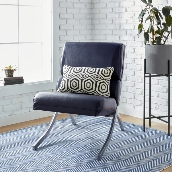 strick amp bolton rialto navy bonded leather chair