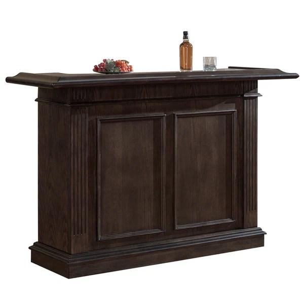 Sylvester Brown Oak Wood Mini Bar Free Shipping Today