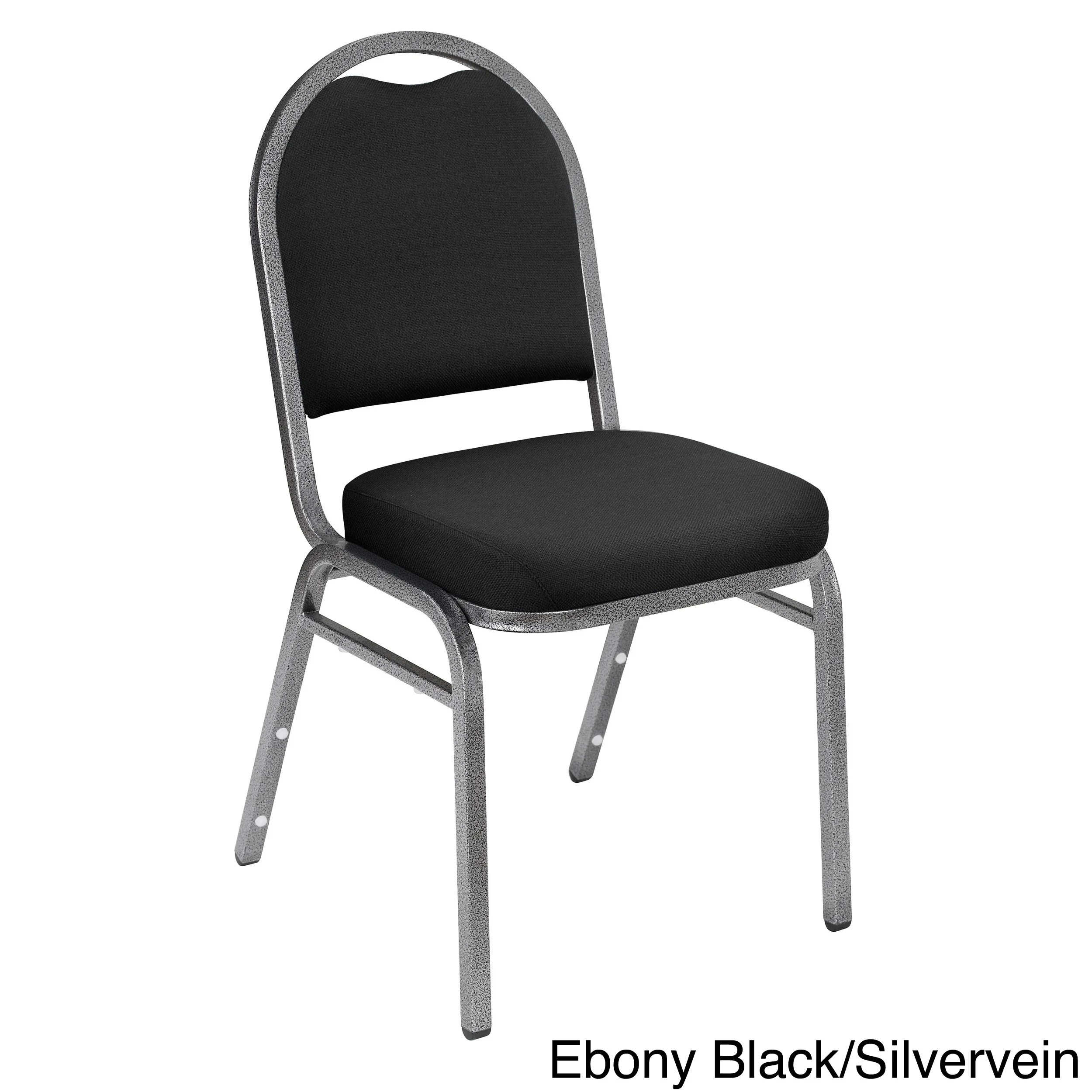 Fabric Padded Stacking Chairs Set Of 4