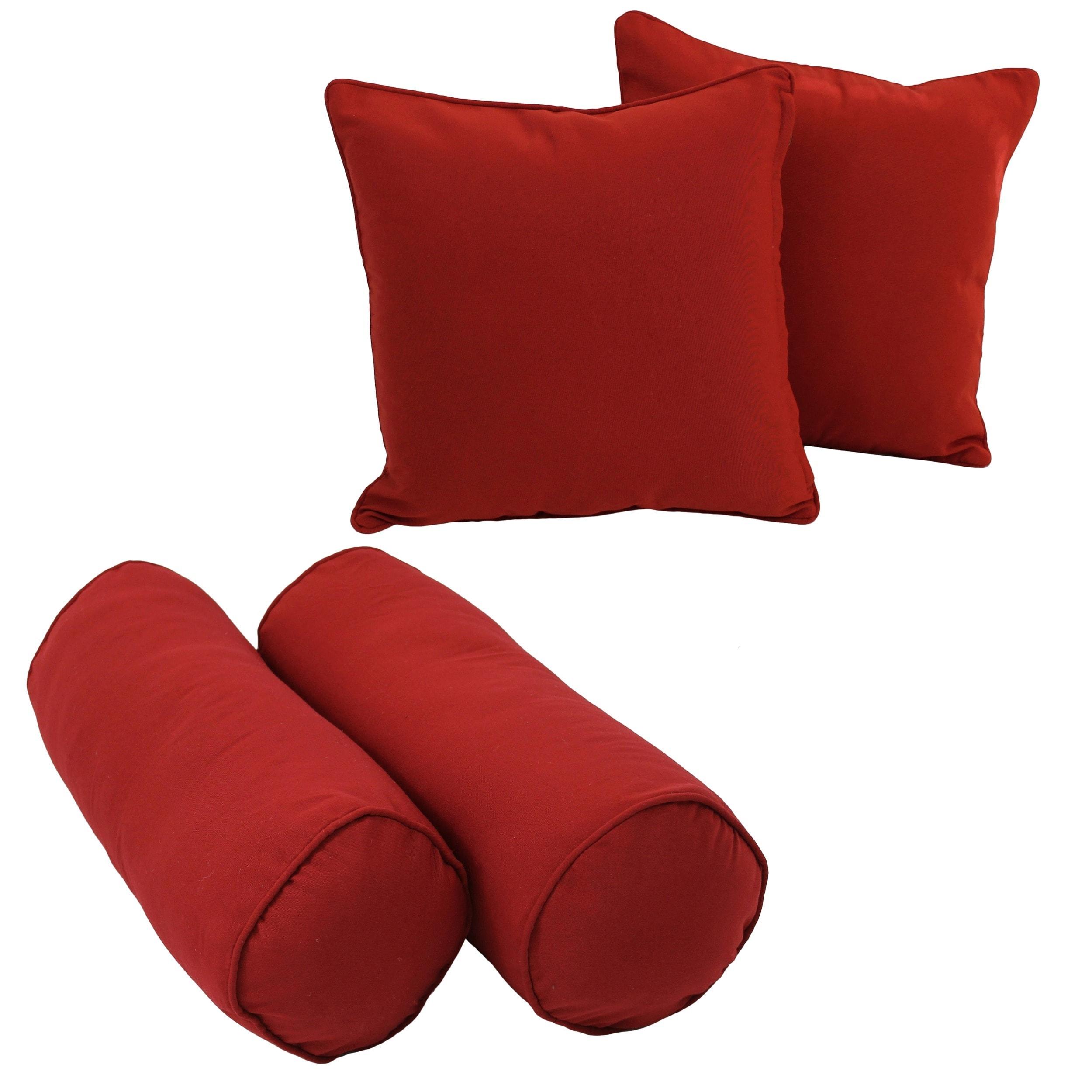blazing needles indoor throw pillow set of 4