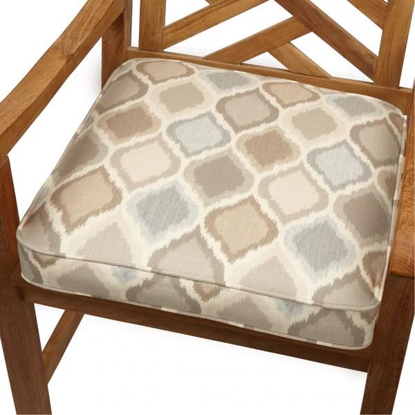 Shop Beige Grey Ogee Indoor Outdoor 19 Inch Chair