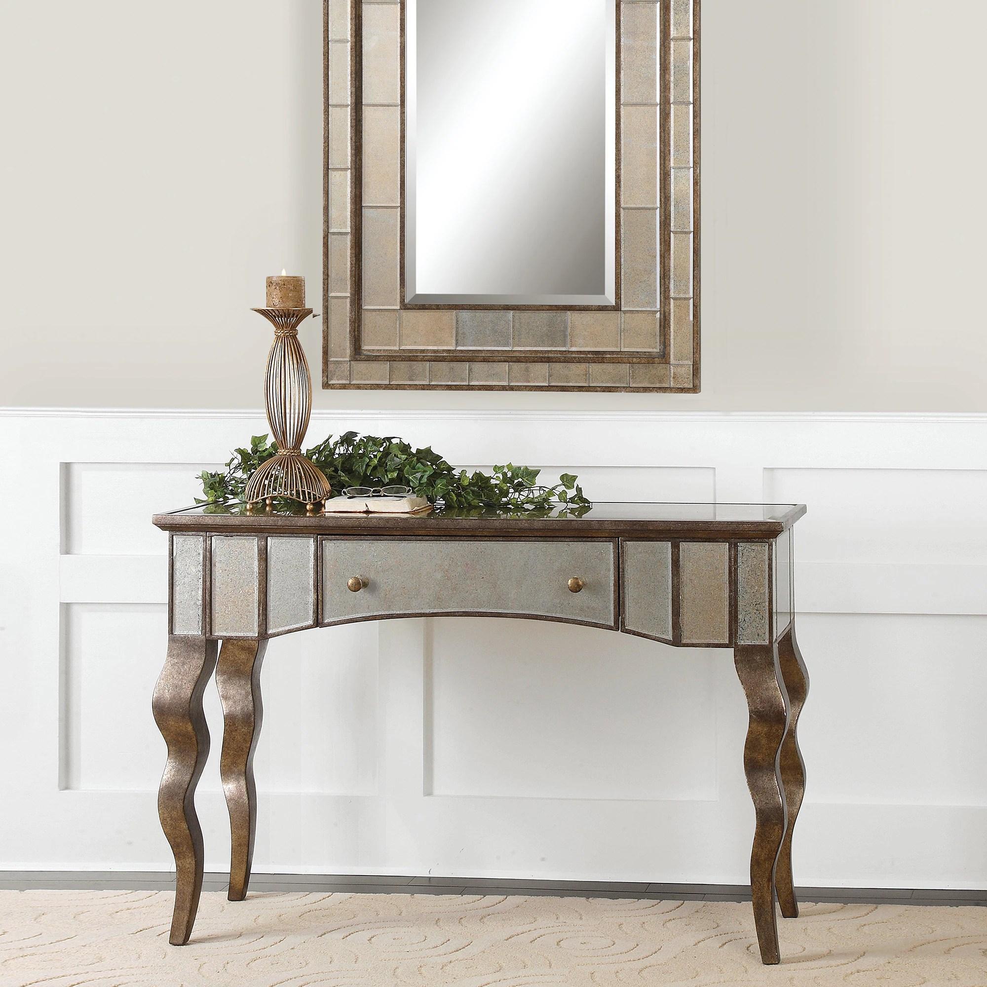Mirror Sofa Table Espresso