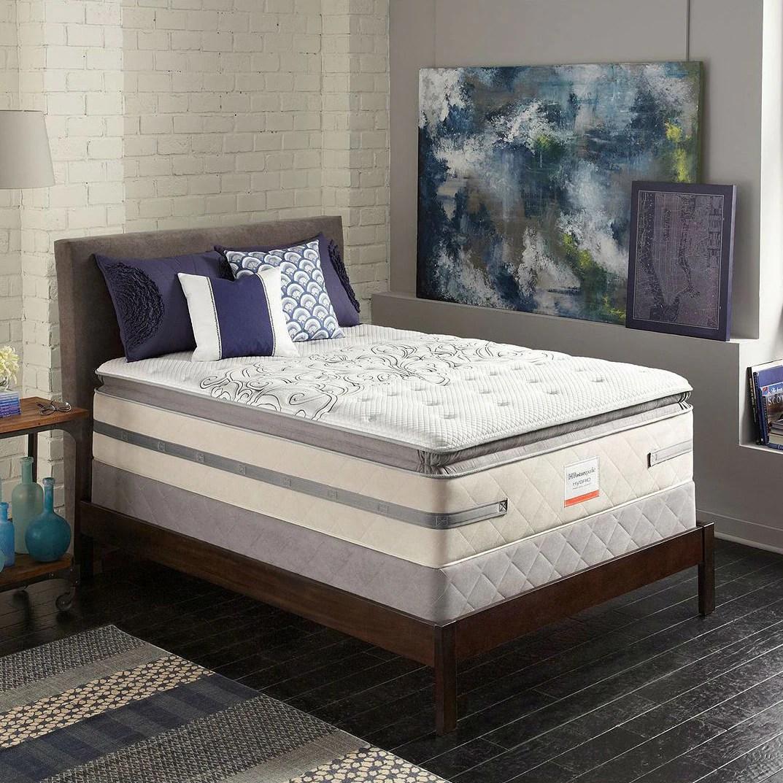 sealy posturepedic evocative plush euro pillow top queen size hybrid mattress set