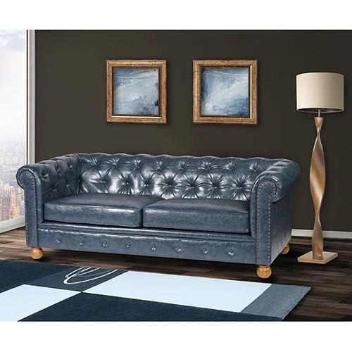 winston vintage blue chesterfield sofa