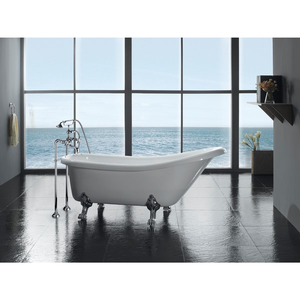 Shop OVE Decors Classic 66 Inch Clawfoot Tub With Faucet