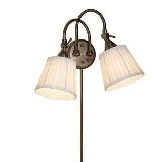 Shop 2-light Bronze Plug-in Transitional Wall Sconce ... on Plugin Wall Sconce Lights id=91653