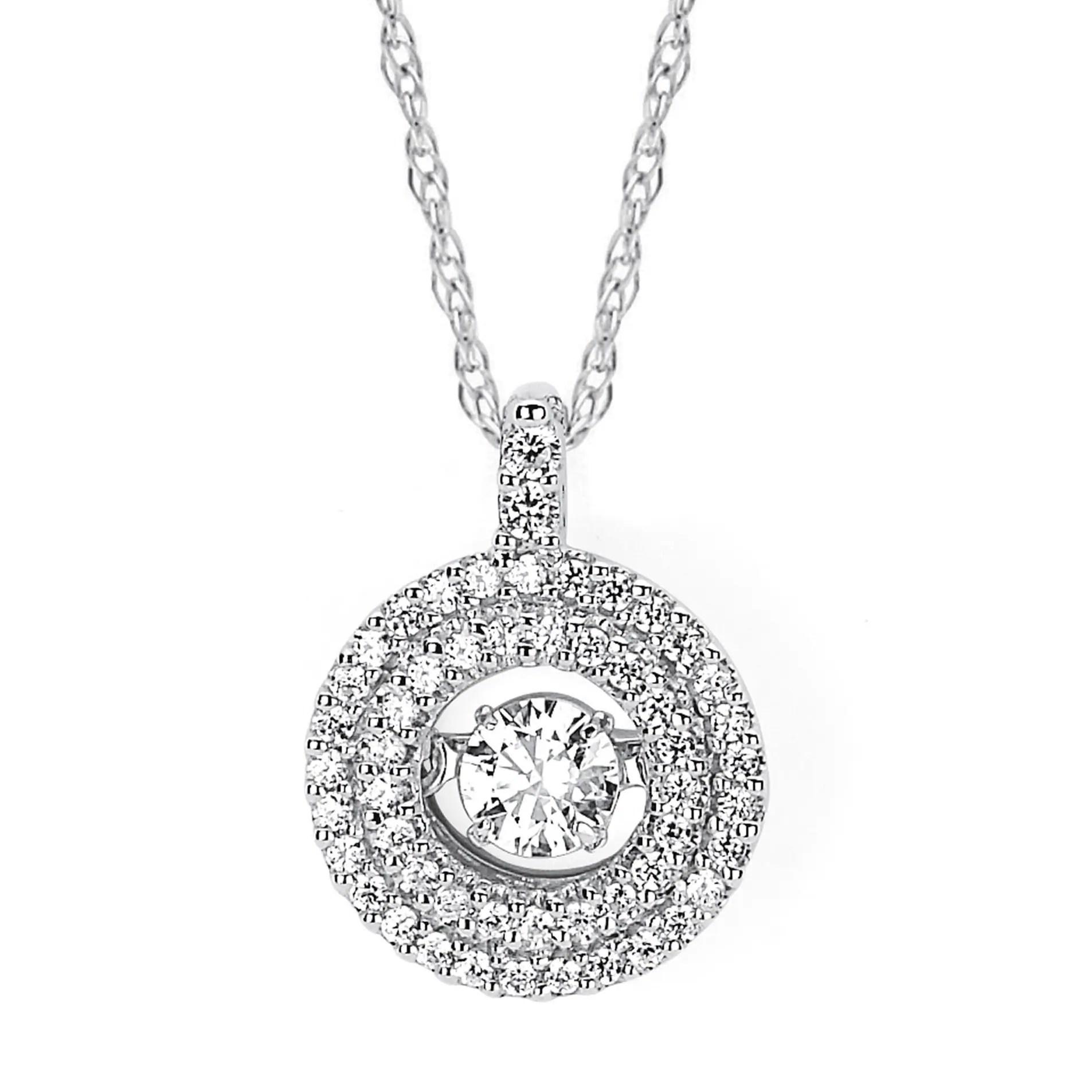 Boston Bay Diamonds 14k White Gold Brilliance In Motion 3