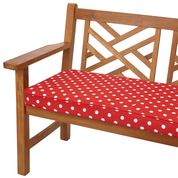 Shop Red Dots 48 Inch Indoor Outdoor Corded Bench Cushion