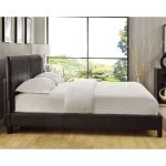 Square Platform King Or Cal King Synthetic Leather Upholstery Bed Frame Overstock 8947540