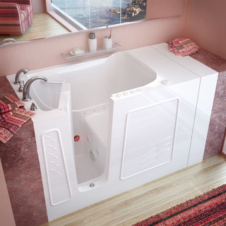 MediTub 32x60 Inch Right Drain White Whirlpool Jetted Walk