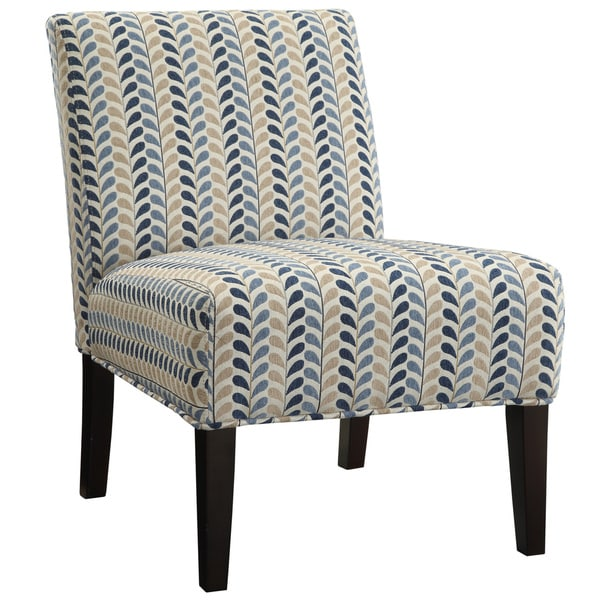 Blue Armless Accent Chair