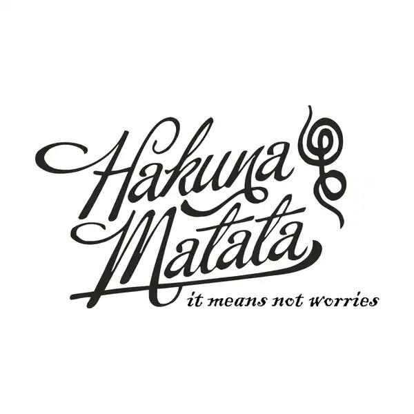 Hakuna Matata Symbol Red
