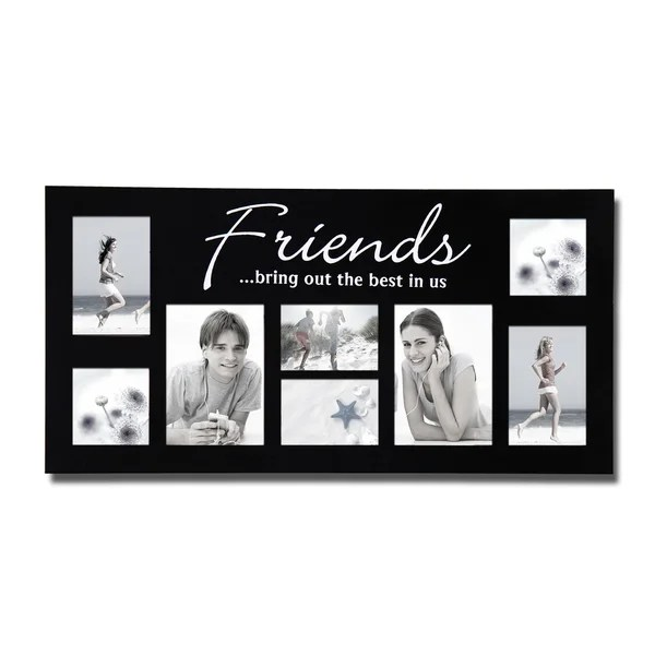 White Friends Collage Photo Frame | Bedwalls.co