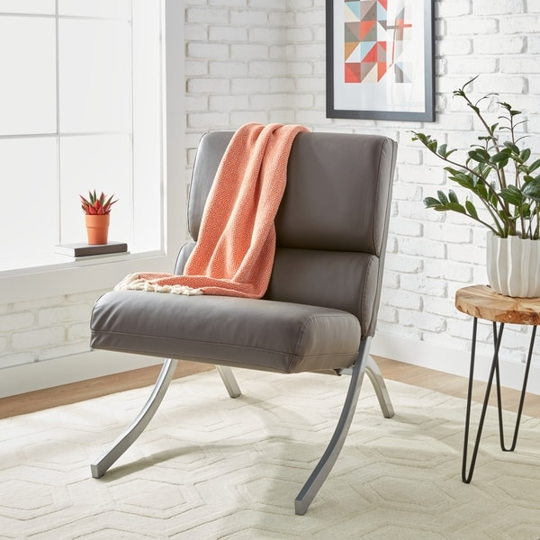strick amp bolton rialto charcoal bonded leather chair
