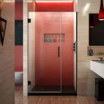 Dreamline Unidoor Plus 39 39 1 2 In W X 72 In H Frameless Hinged Shower Door 39 39 5 W