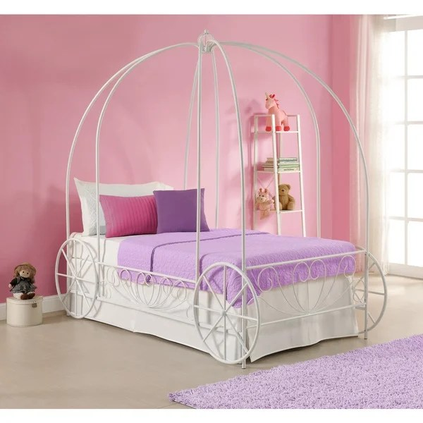Shop DHP Princess Carriage Twin Metal Bed Free Shipping