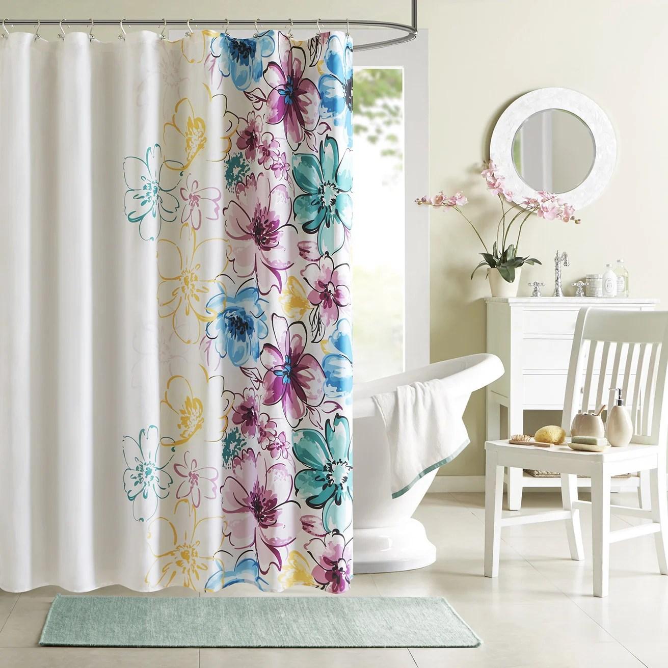 taylor olive harriman floral shower curtain