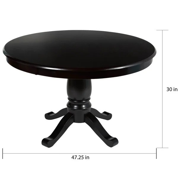 simple living alexa round dining table