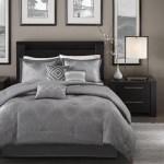 Madison Park Crawford Grey Jacquard 7 Piece Comforter Set On Sale Overstock 9166956