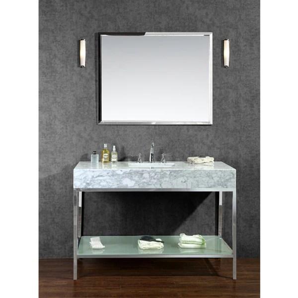 "brightwater 48"" single-sink bathroom vanity set - free shipping"