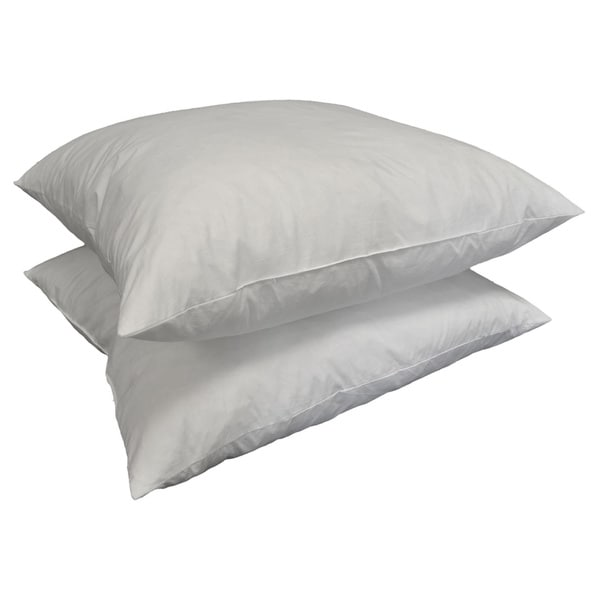 euro square 24 x 24 inch feather pillow insert set of 2
