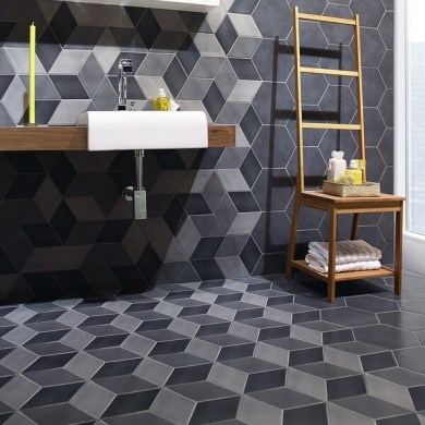 Shop SomerTile 8 875x10 125 inch Concret Cubic Vigeland Porcelain     SomerTile 8 875x10 125 inch Concret Cubic Vigeland Porcelain Floor and Wall  Tile