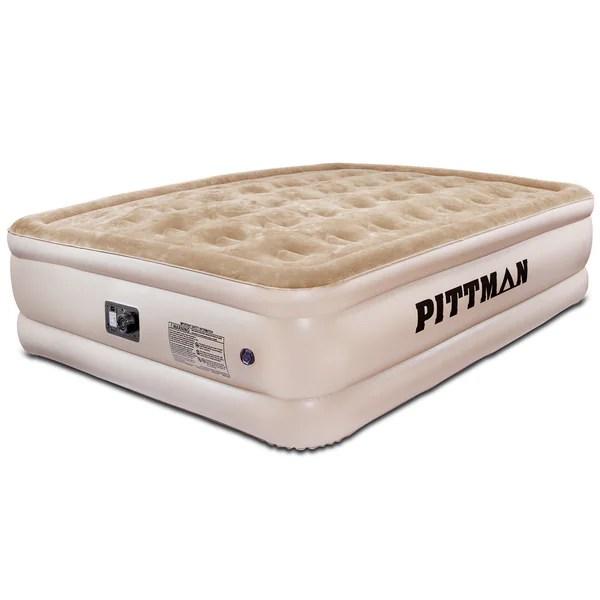 Pittman Ultra Double High Queen Size Air Mattress With Built In Pump