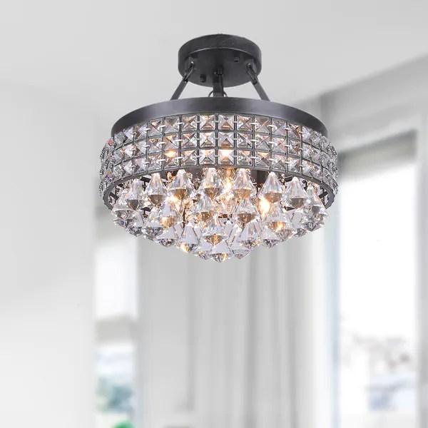 Shop Antonia 4 Light Crystal Semi Flush Mount Chandelier