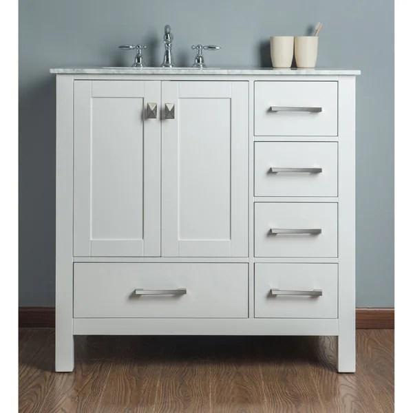https www overstock ca home garden malibu pure white single sink 36 inch bathroom vanity 9242685 product html