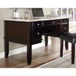 Malone White Marble Top Desk Set By Greyson Living Overstock 9270907
